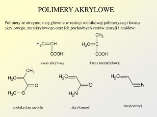 POLIMERY AKRYLOWE