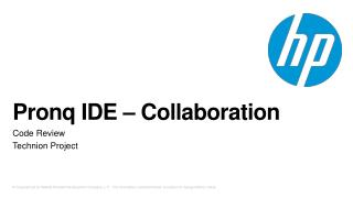 Pronq  IDE – Collaboration