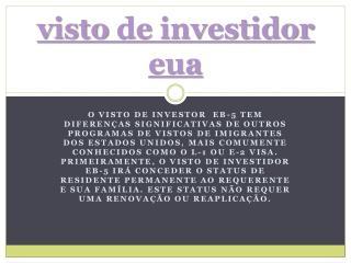 Visto De Investidor