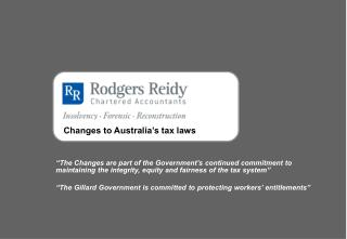 Changes to Australia's tax laws