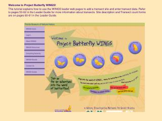 Welcome to Project Butterfly WINGS!