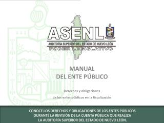 MANUAL DEL ENTE PÚBLICO Derechos y obligaciones de los entes públicos en la fiscalización
