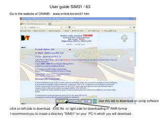 User guide SIM31 / 63