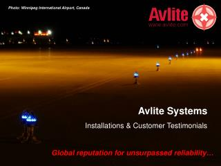 Avlite Systems Installations & Customer Testimonials