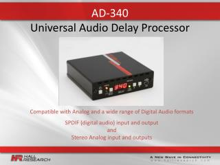 AD-340   Universal Audio Delay Processor