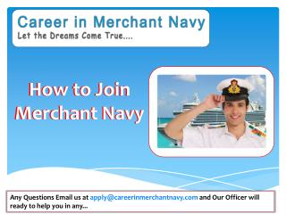 How to Join Merchant Navy