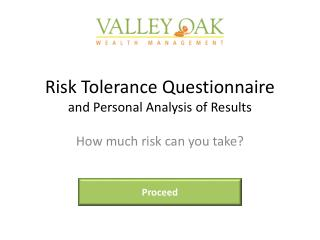 Risk Tolerance Questionnaire and Personal Analysis of Results