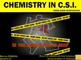 CHEMISTRY IN C.S.I.