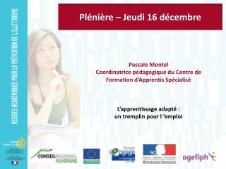 Plénière – Jeudi 16 décembre