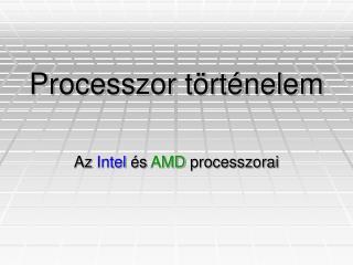 Processzor történelem