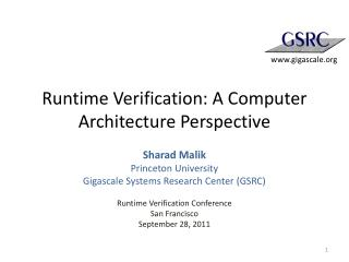 Runtime Verification: A Computer Architecture Perspective
