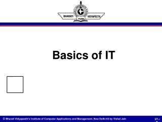Basics of IT