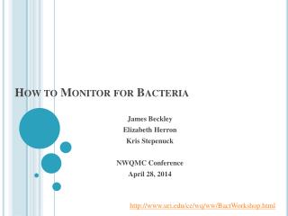 How to Monitor for Bacteria