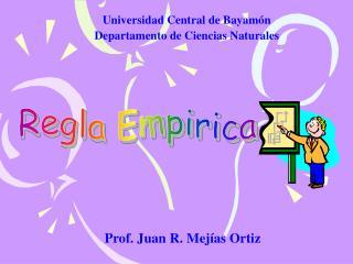 Prof. Juan R. Mejías Ortiz