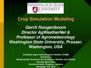 Crop Simulation Modeling