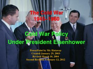 The Cold War 1945–1960