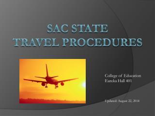 Sac State  Travel Procedures