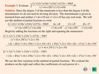 Example 3   Evaluate