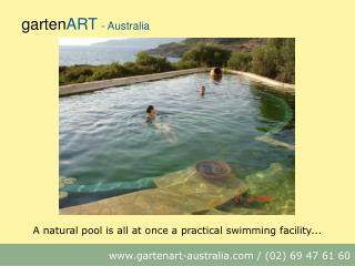 A natural pool is all at once a practical swimming facility...
