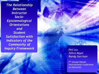 The Relationship Between  Instructor  Socio-Epistemological Orientations  and  Student