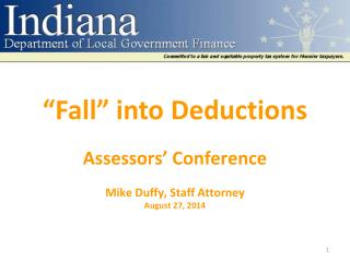 """Fall"" into Deductions"
