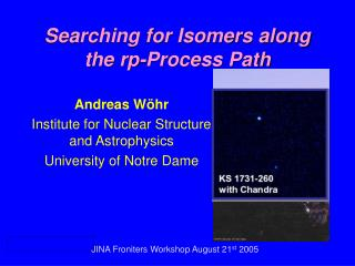 Searching for Isomers along the rp-Process Path