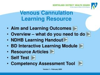 Venous Cannulation Learning Resource