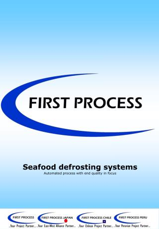 Seafood defrosting systems Automated process with end quality in focus