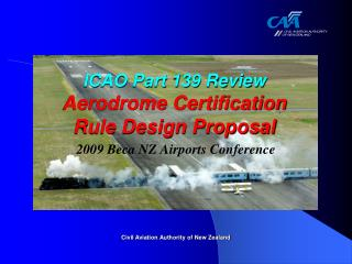 ICAO Part 139 Review Aerodrome Certification Rule Design Proposal