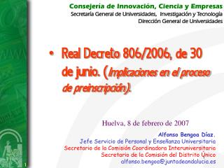 Consejería de Innovación, Ciencia y Empresas