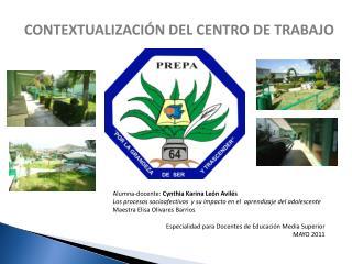 CONTEXTUALIZACIÓN DEL CENTRO DE TRABAJO