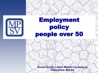 Employment policy  people over 50