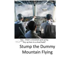 Stump the Dummy Mountain Flying