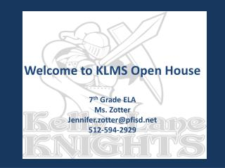 Welcome to KLMS Open House