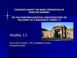 Huszka, J.J. Szent István Hospital   ENT, Head&Neck Surgery Budapest/Hungary