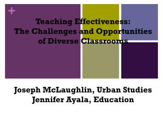 Teaching Effectiveness: The Challenges and Opportunities of Diverse Classrooms