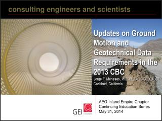 c onsulting engineers and scientists