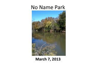 No Name Park