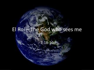 El Roi   The God who sees me