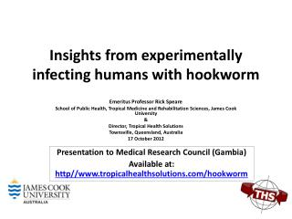 Insights from experimentally infecting humans with hookworm