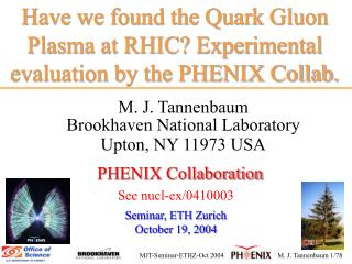 Have we found the Quark Gluon Plasma at RHIC? Experimental evaluation by the PHENIX Collab.