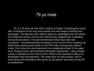 79 yo male
