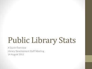 Public Library Stats