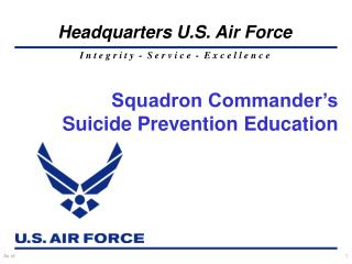 Squadron Commander s Suicide Prevention Education