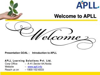 Welcome to APLL