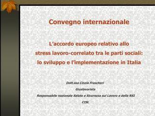 Dott.ssa Cinzia Frascheri  Giuslavorista