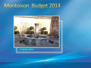 Montoison  Budget 2014
