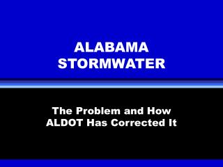 ALABAMA STORMWATER