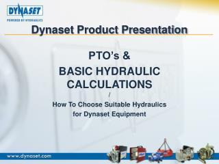 Dynaset Product Presentation