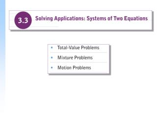 Total-Value Problems